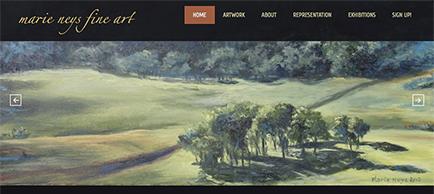 Marie Neys Fine Art website